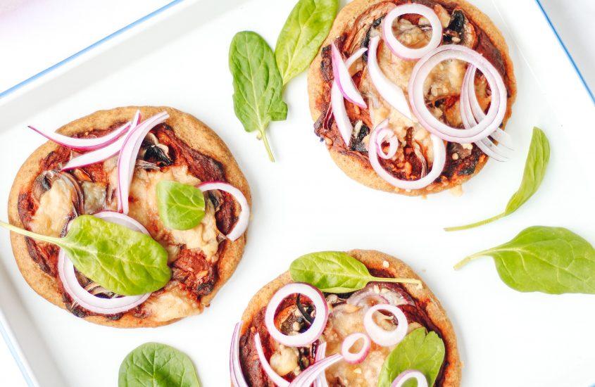 Spinazie spelt pizza